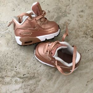 Rose Gold Nike size 1 infant!!!!